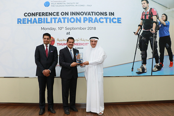 His Excellency Humaid Al Qutami Honors Leading Physical Therapy and Rehabilitation Experts at the 'Conference on Innovations in Rehabilitation Practice' Organized by Thumbay Physical Therapy and Rehabilitation Hospital